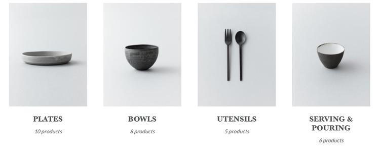 Porslin och bestick som användes på Noma Tokyo - allt specialbeställt hos japanska hantverkare - säljs nu ut på Nomas sajt. Mycket är slutsålt, men i skrivande stund finns det fortfarande några saker kvar.  Foto: Noma