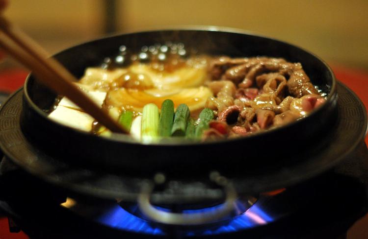 Sukiyaki är en mustig gryta där wagyu passar utmärkt. Foto:Giorgio Minguzzi