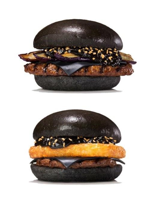Bambukol gör burgarna svarta.  Foto: Burger King Japan
