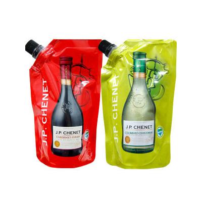 Rött och vitt vin finns nu också tillgängligt i samma typ av förpackning. Slår dessa försök väl ut, lär vi äntligen få se boxvinerna slå igenom på riktigt i Japan.
