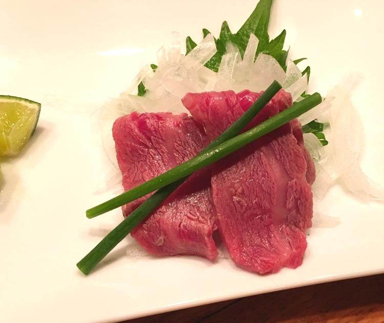 Sashimi på nötkött.