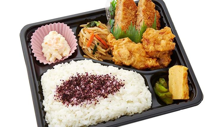 En relativt typisk japansk bento med kött, grönsaker, omelett och ris. Knappt 40 kronor.  Foto: Gochikuru
