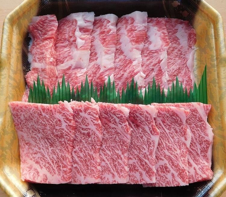Finfint wagyu-kött från Miyazaki nere på Kyushu.. Valt till Japans bästa nötkött.  Foto: Miyuki Meinaka (Creative Commons license)