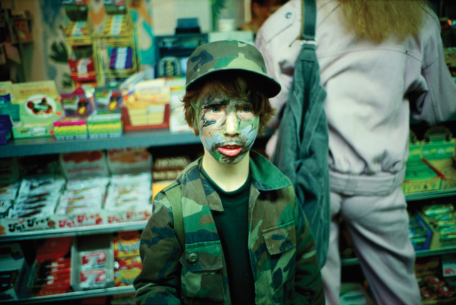Lo in camouflage, NYC, 1994,   from the book   Eden & After  , 2014 Nan Goldin, Phaidon