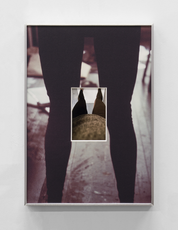 "the fountain containing itself, virtual fold , 2014, inkjet print and UV inkjet printed matboard in aluminum frame, 17"" x 12"""