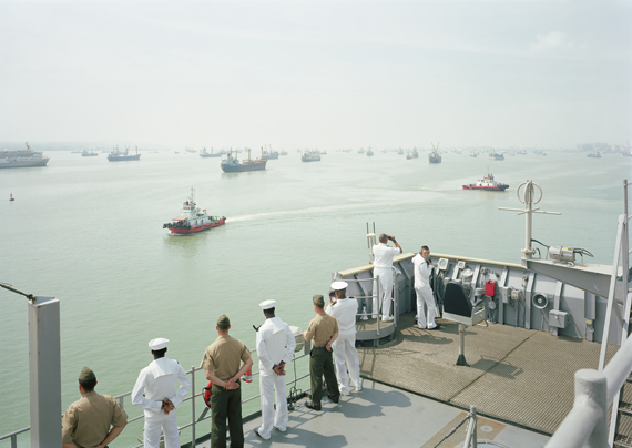 Manning the Rail, USS 'Tortuga', Java Sea, 2010 © An-My Lê