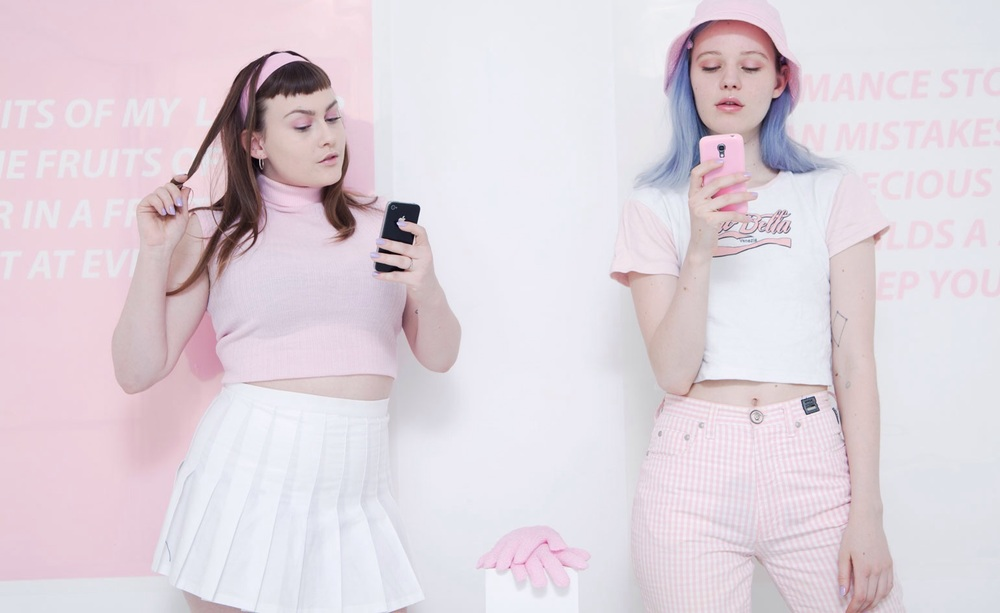 Artists Arvida Byström and Maja Malou Lyse hosted aerobics classes as creative selfie-stick tutorials.