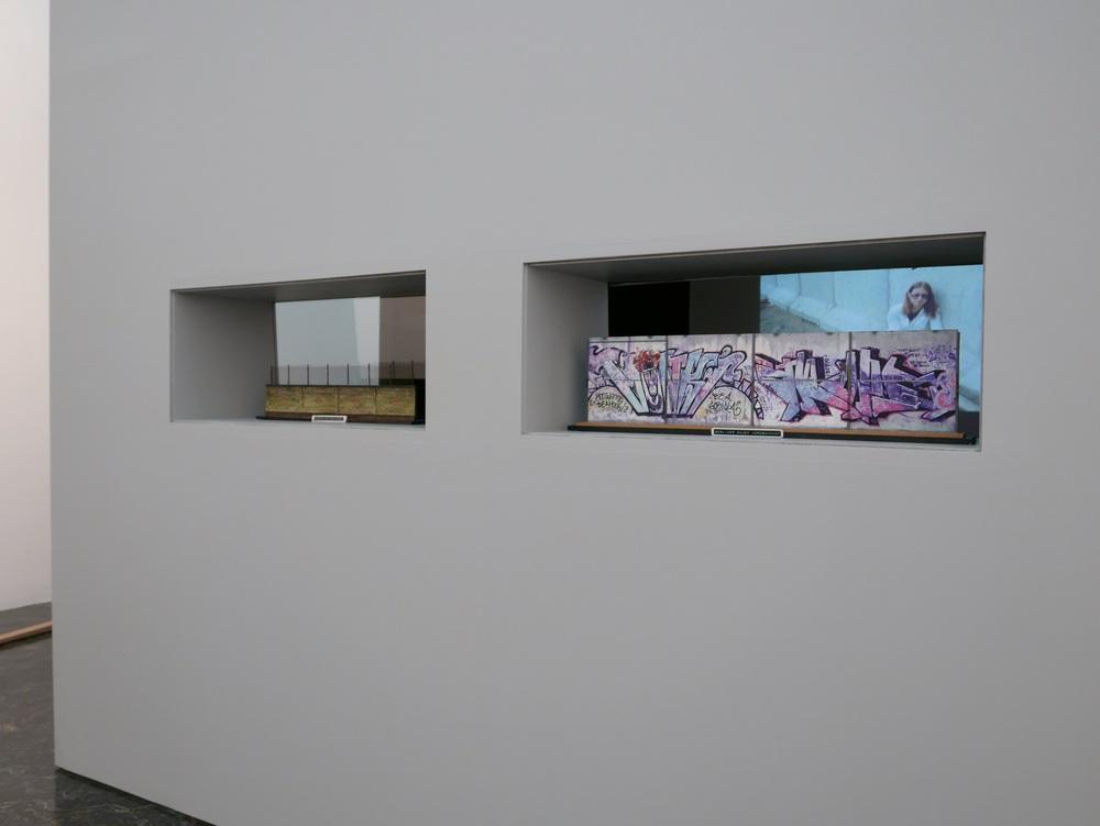 Lars Laumann: Berlin Wall, 2008, installation at Kunstnernes Hus. Photo: Kunstnernes Hus