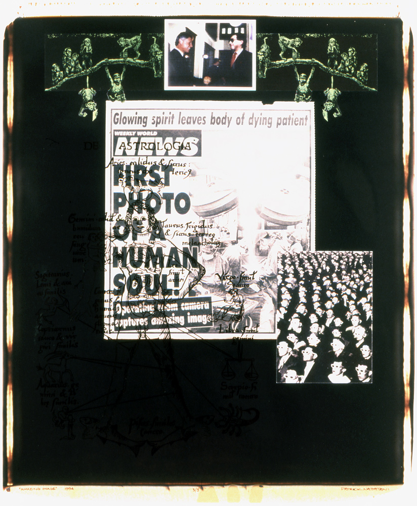 Patrick Nagatani,  Amazing Image  (1994), Polaroid Polacolor 20X24 print with applied mixed media.