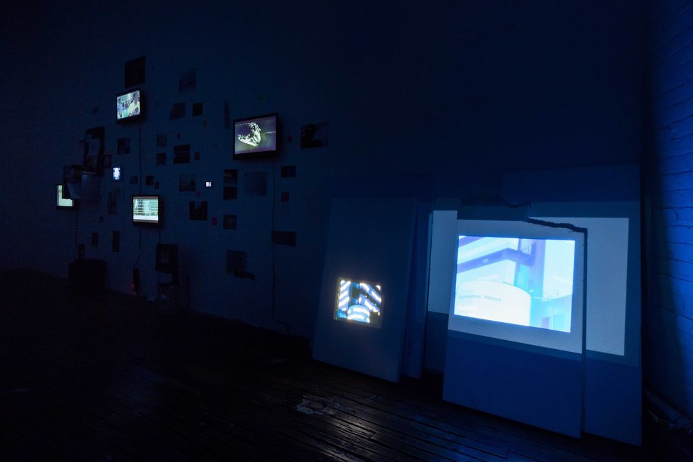 Sara Eliassen, installation photo,  Screens.  ISCP ,  NYC, 2016.