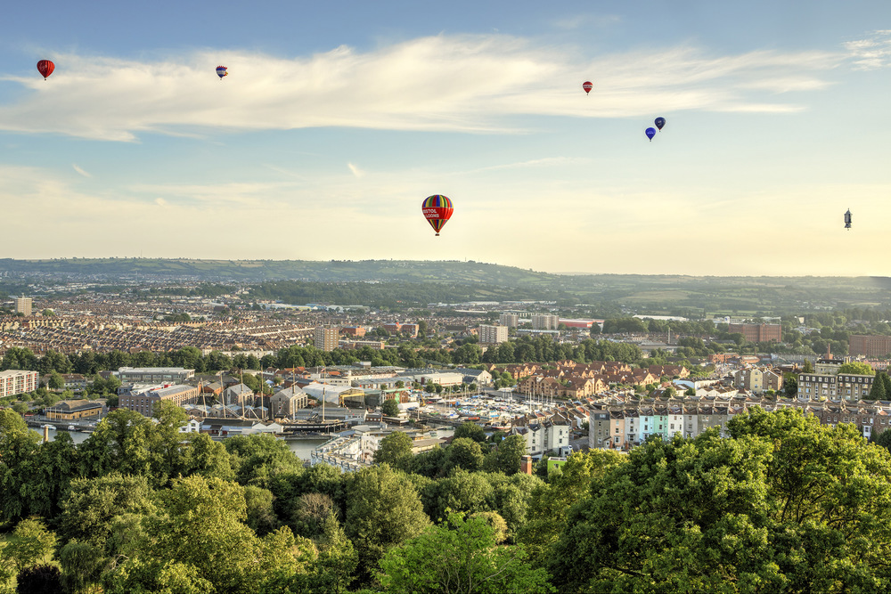 Joe Clarke, Bristol photographer, Cabot Tower, Bristol Balloon Fiesta, hot air balloons, HDR