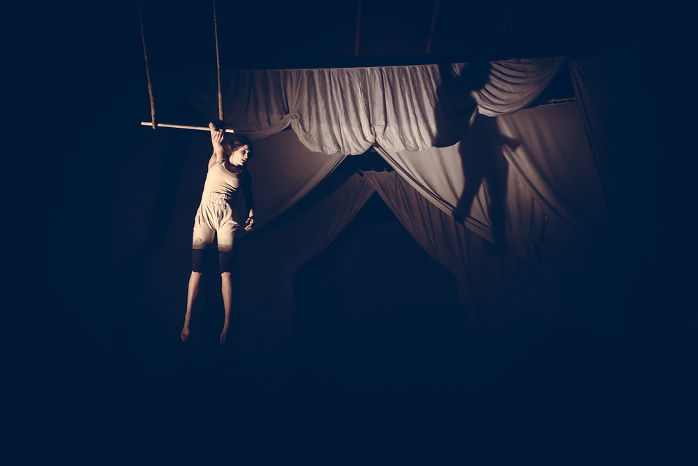 Joe Clarke, photographer, Bristol, The Invisible Circus, Under The Dark Moon, Old Vic, trapeze