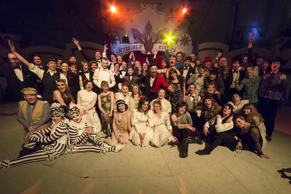 The Invisible Circus, Showzam, group photo