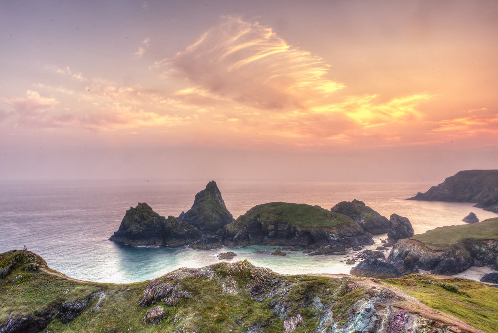 joe clarke, photographer, kynance cove, cornwall, sunset, hdr.jpg
