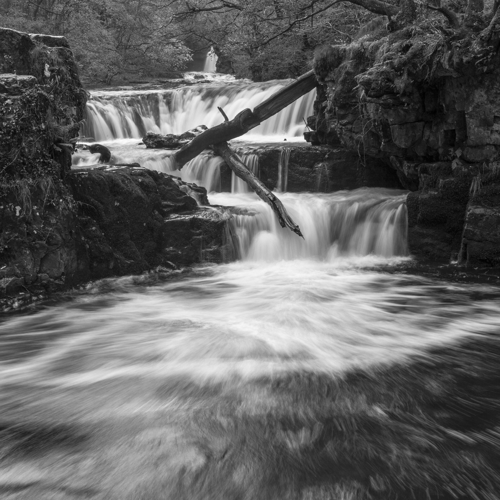 long exposure, waterfall, Ystadfellte, Brecon Beacons, Wales.