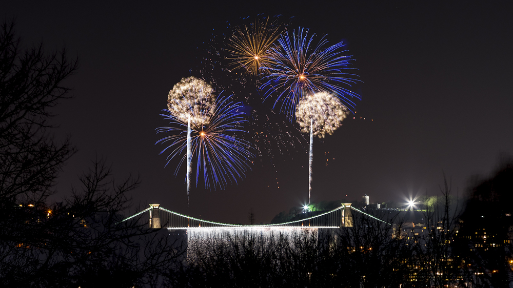 Clifton Suspension bRIDGE fIREWORKS