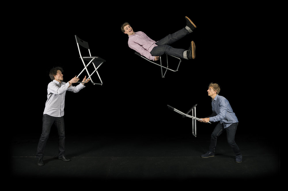 Circus Geeks, chair juggling