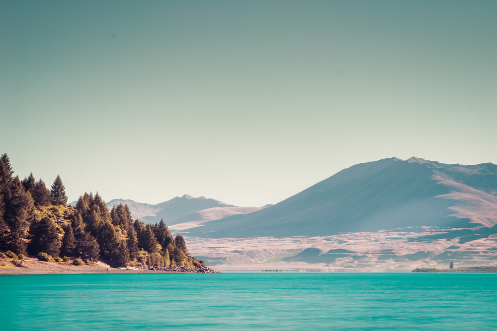 lake tekapo, new zealand, south island, long exposure, light blue water, sony a7r