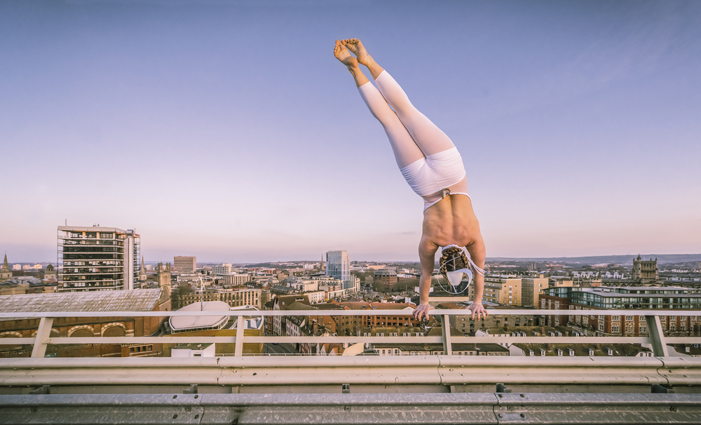 Circus City, Bristol, Handstand Carpark Rooftop, Billboard, Joe Clarke