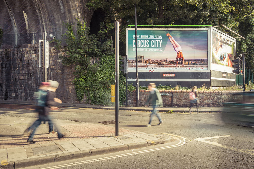 Circus City, Bristol, Arches Billboard, Joe Clarke