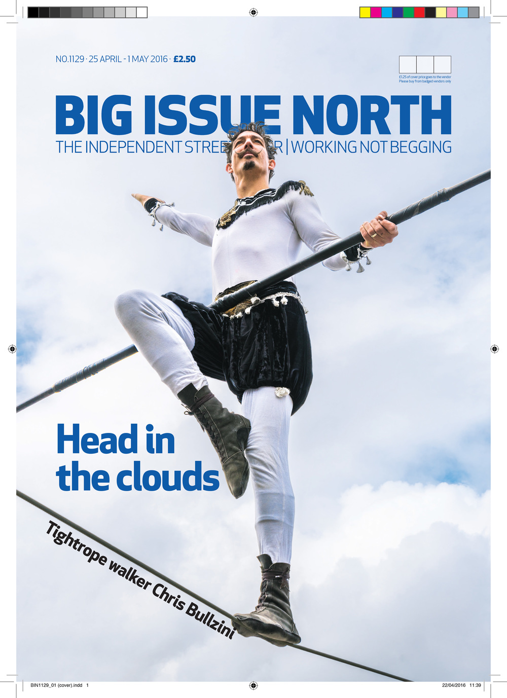 Big Issue, Front Cover, Bullzini, High Wire, Joe Clarke Photogrphy