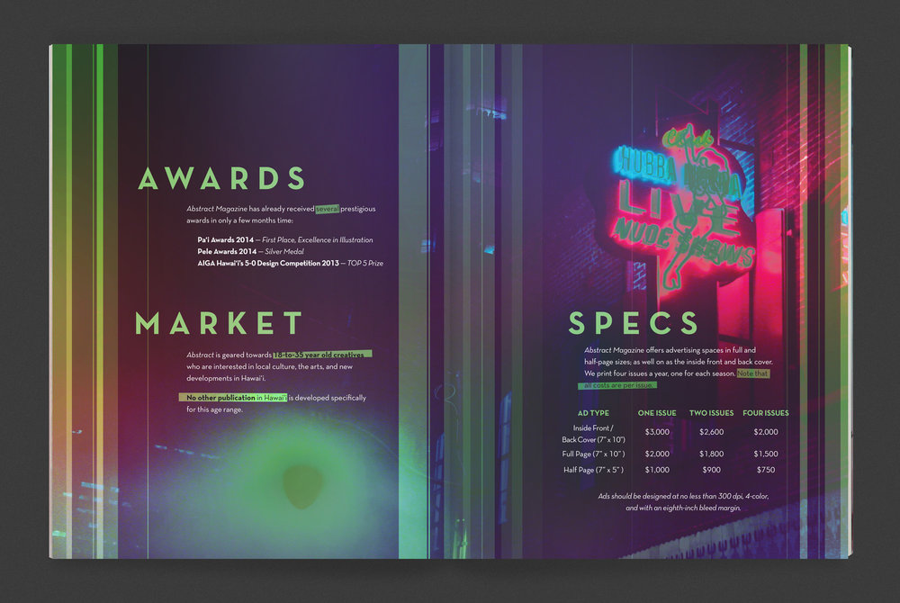 Awards, Market, Specs