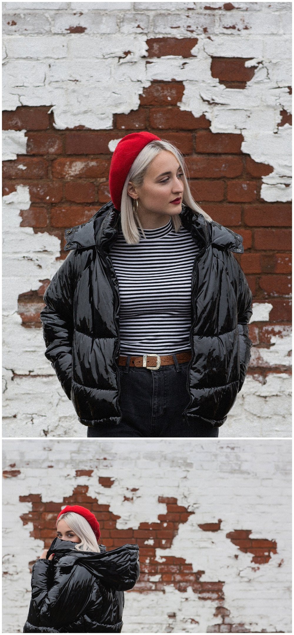 Black Shiny Patent Puffa Jacket - Topshop - Jessica Withey - Fashion Blogger - Blog