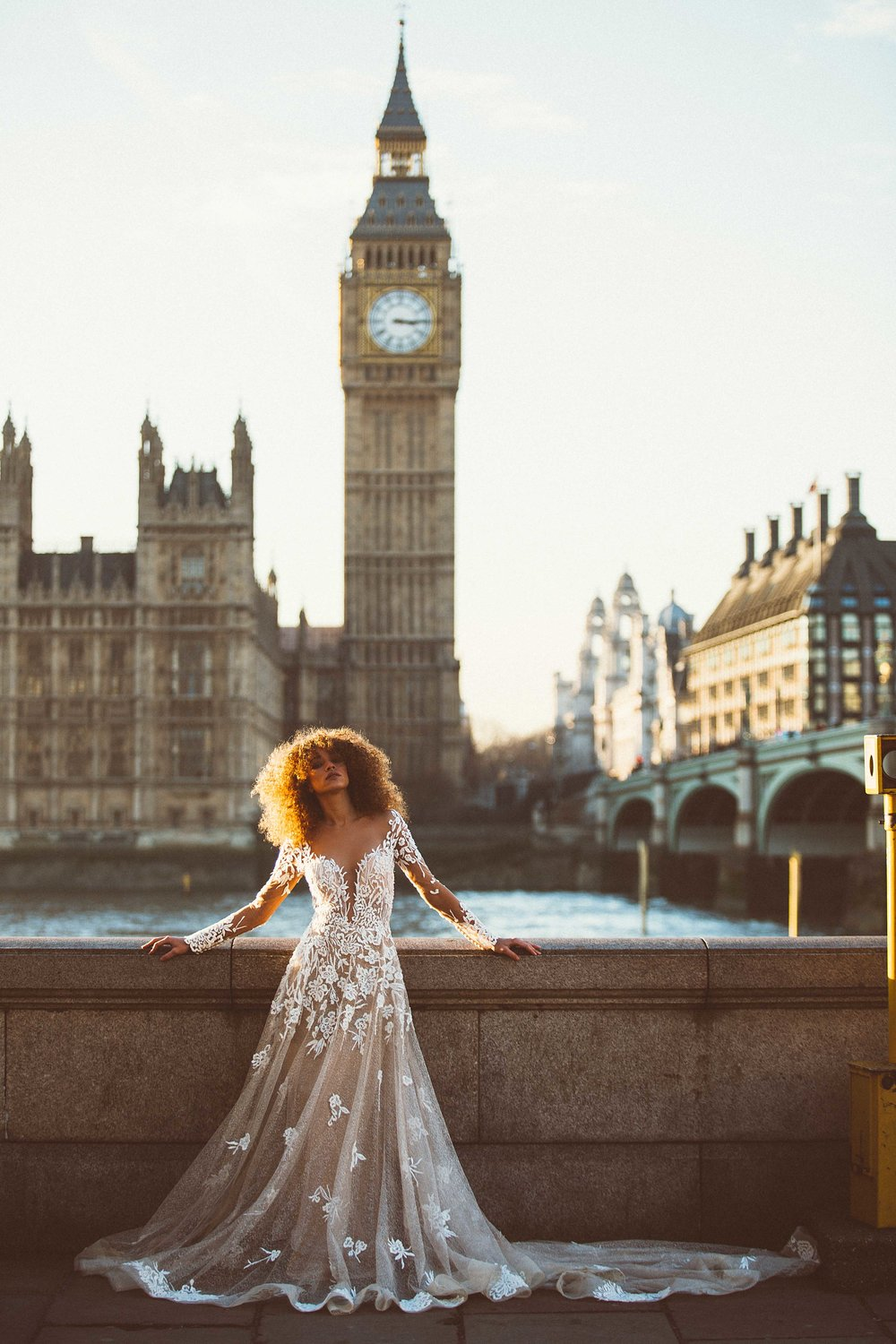 Bridal Editorial - Big Ben, London