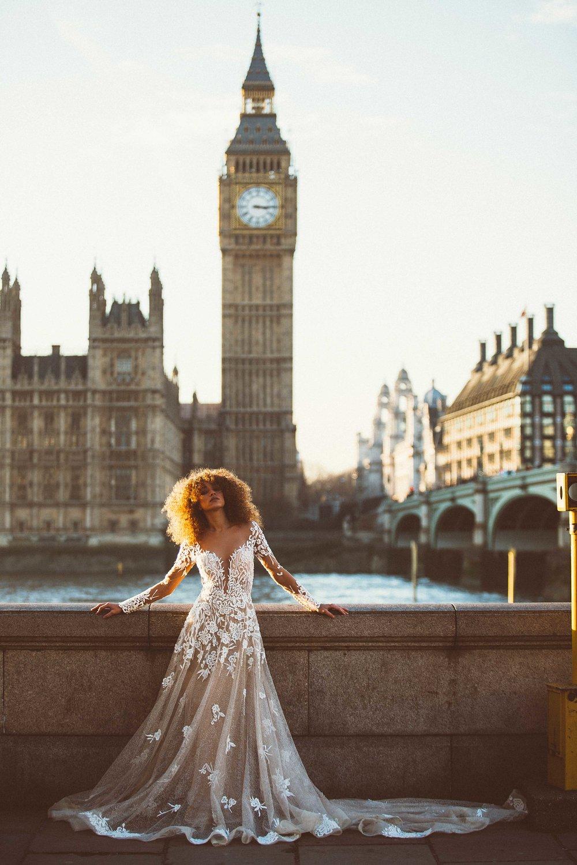 Bridal Editorial - Big Ben, London