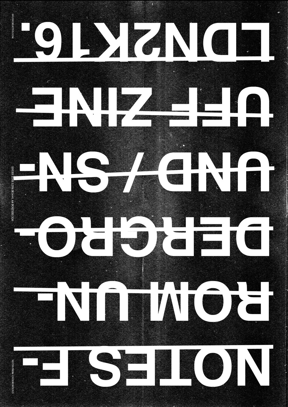 SNUFF ZINE COVER-B&W-black1-rev #PUNKLONDON