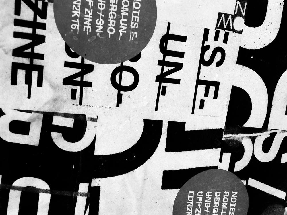SNUFF ZINE - B&W TYPE EXPERIMENTS \ PRINT > COLLAGE > PASTE > PHOTO #PUNKLONDON