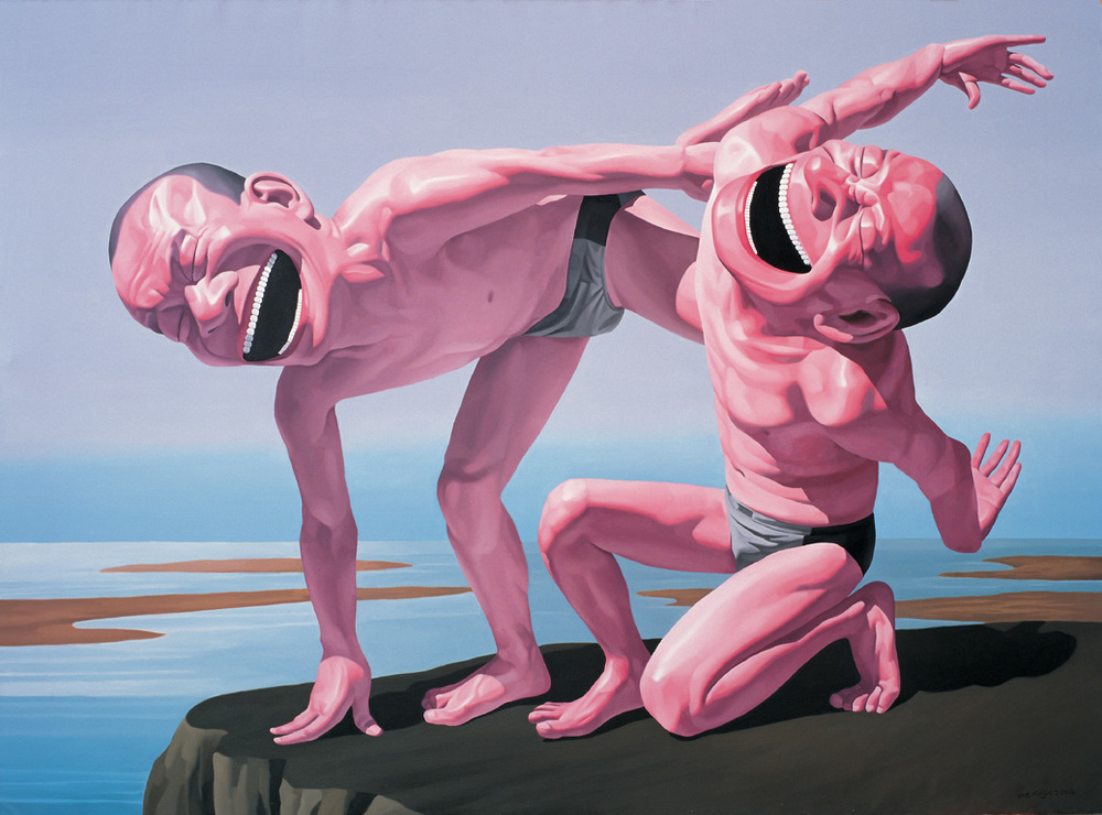 artwork of Yue Minjun:http://visionaryartistrymag.com/wp-content/uploads/2013/05/yue6.jpg
