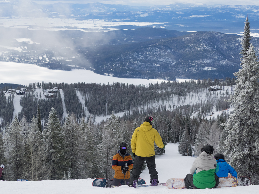 Copy of RIDGE snowboarding Academy student athletes training at Whitefish Mountain Resort