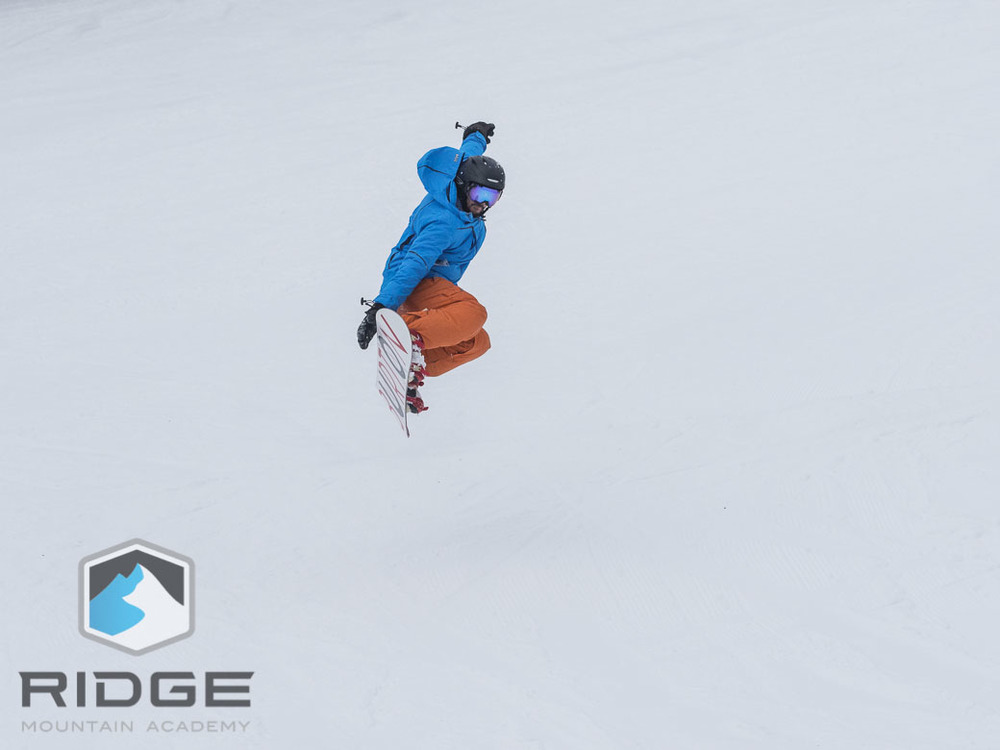 RIDGE student Athlete Matt G at Whitefish Mountain Resort