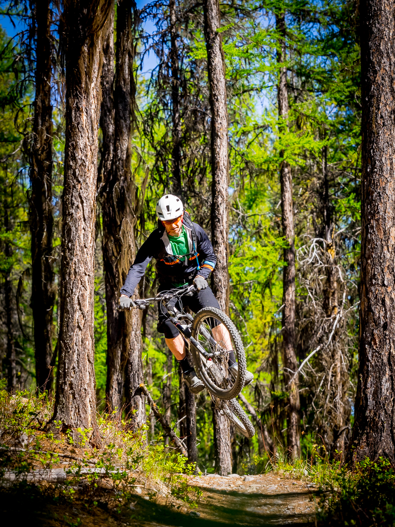 Copy of Mountain biking academy coach riding in Whitefish