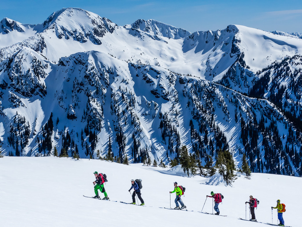 Backcountry skiing at RIDGE Academy