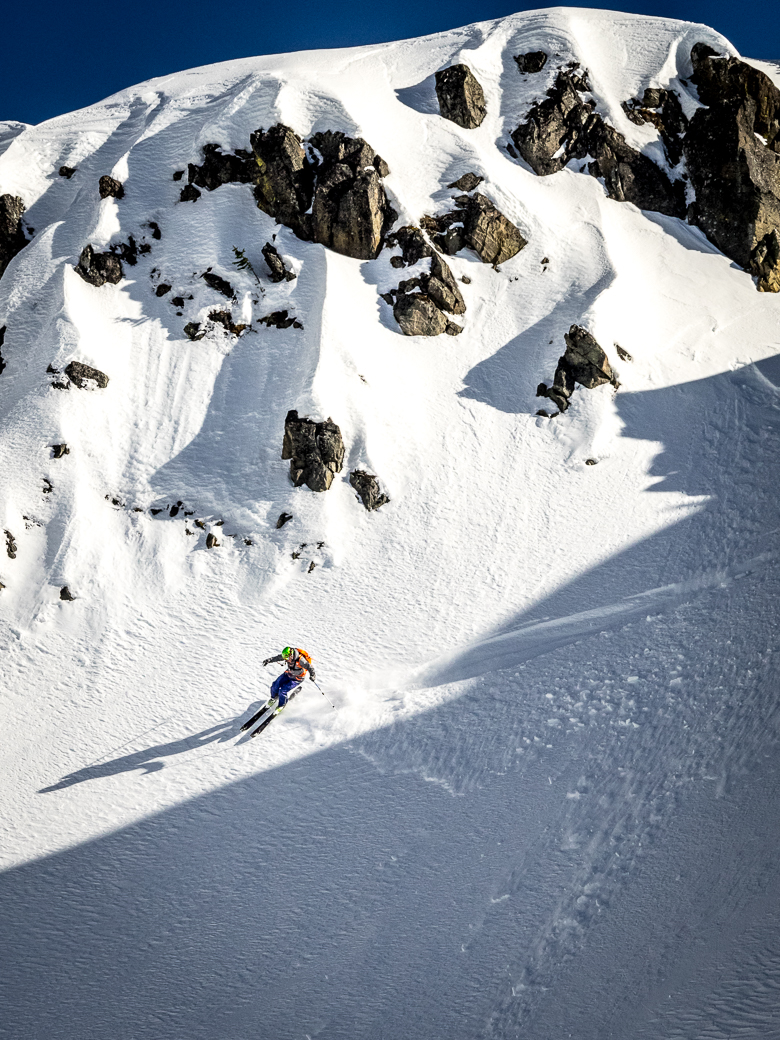 Freeskiing in Whitefish, Montana