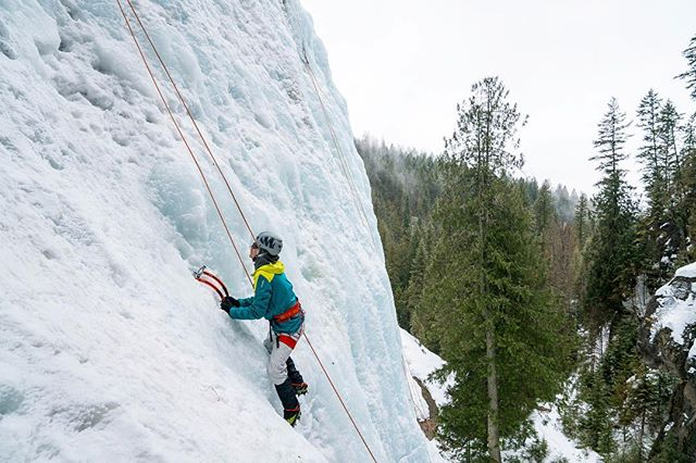 Student Athlete @owen_stephens11 working his climbing game last weekend on our ice climbing trip in BC! 📸: @t_brower