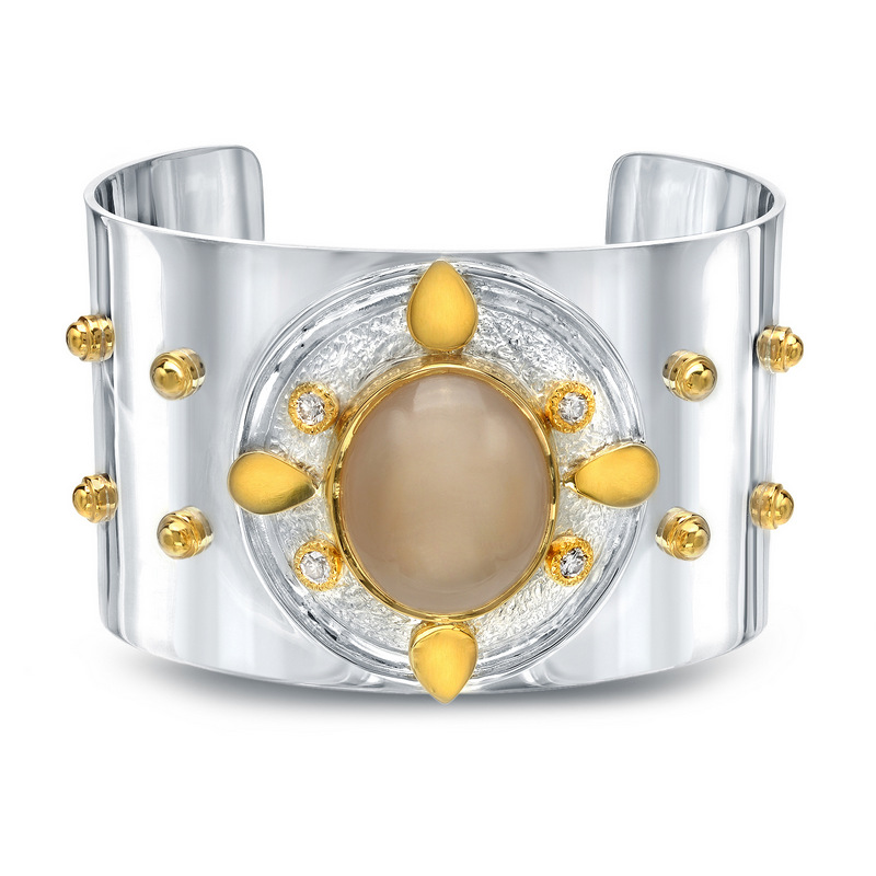 moonstone shield cuff