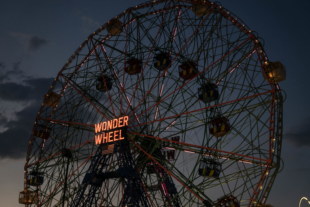 Wonder Wheel Coney Island Sunset