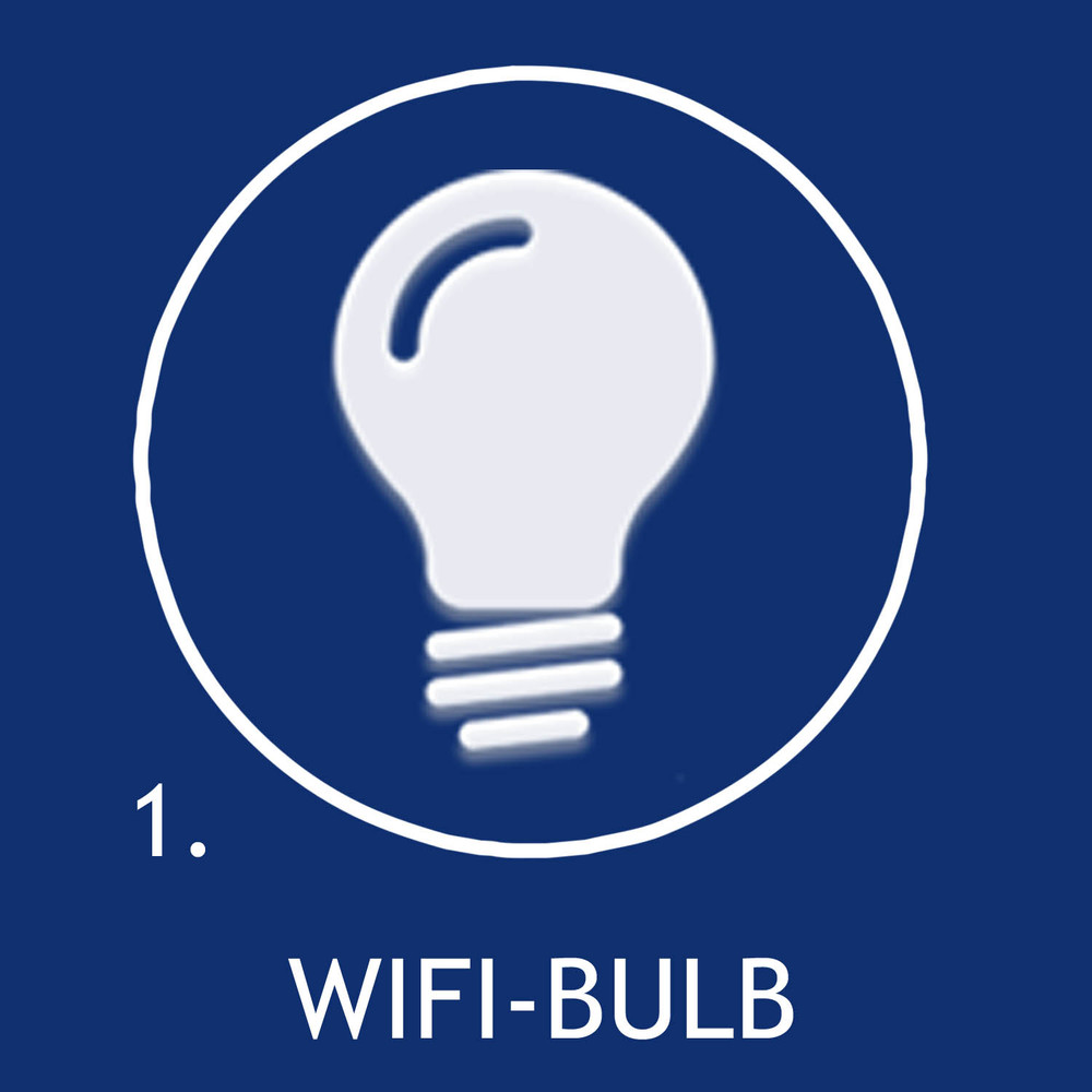 Replace your light bulbs with WiFi enabled LED bulbs.