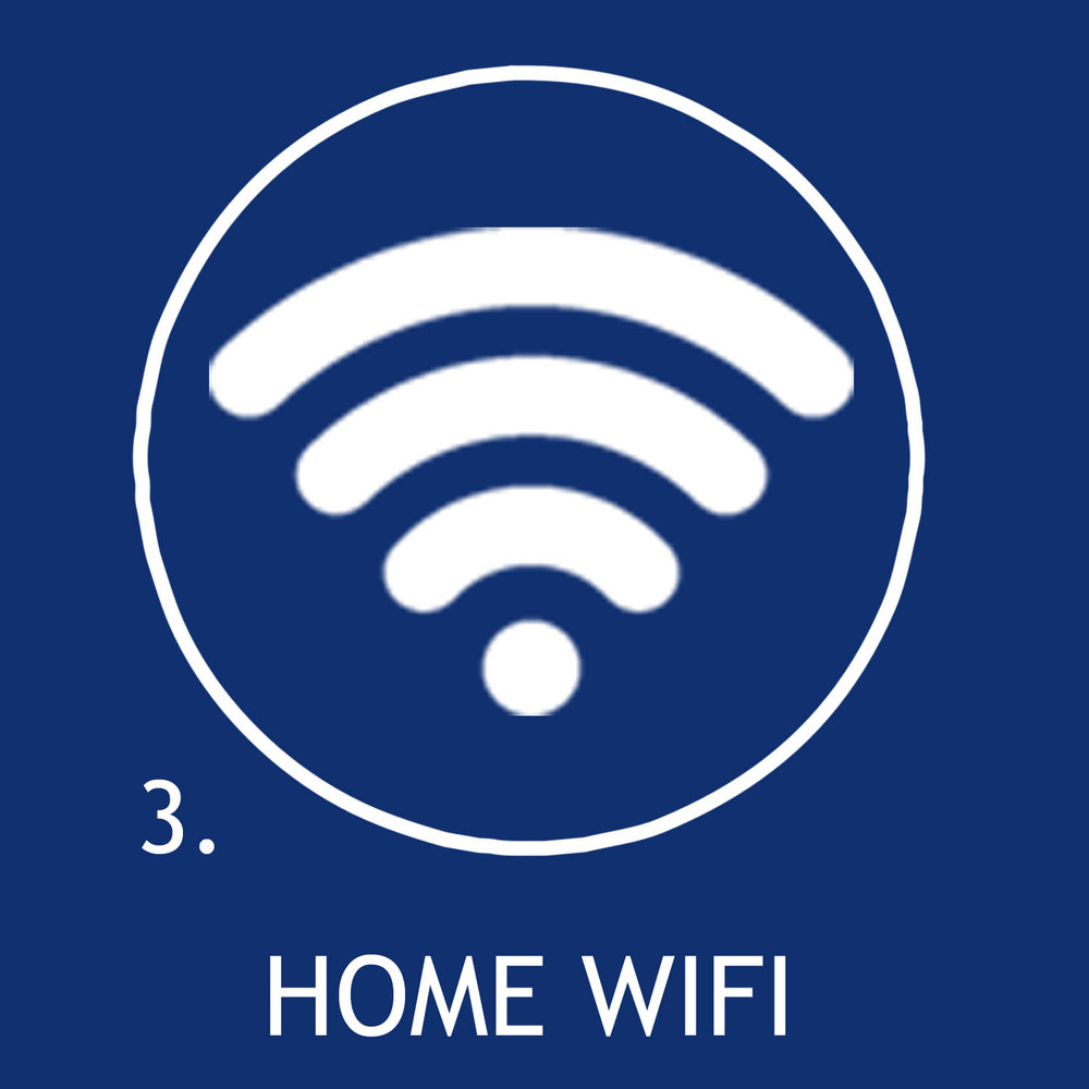 Connect your smartphone to your home WiFi network.
