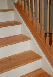 Oak Treads w/White Risers