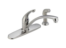 Delta Brushed Stainless Faucet with Sprayer