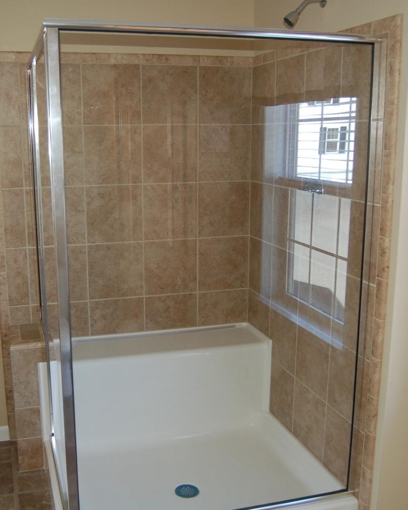 Opt. Corner Ceramic Tile Shower