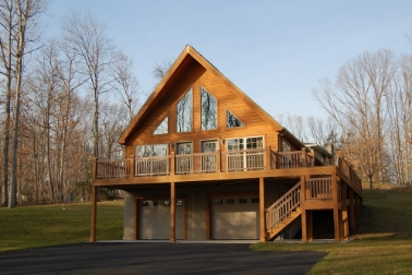 Cedar Wood Lap Siding Shown on Chalet Home