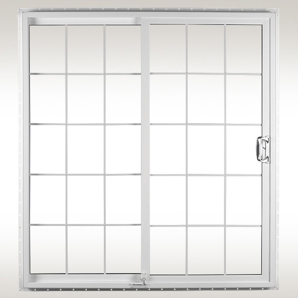Sliding Patio Door Color: White or Beige Grids: Optional