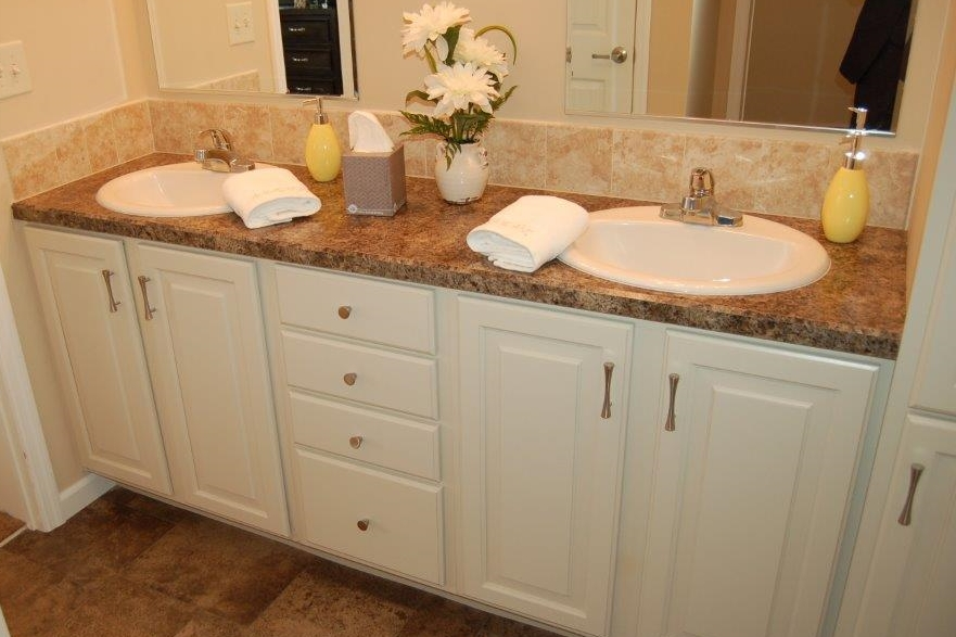Standard Master Bath Double Vanity (Cappucino Stained Maple Cabinetry)