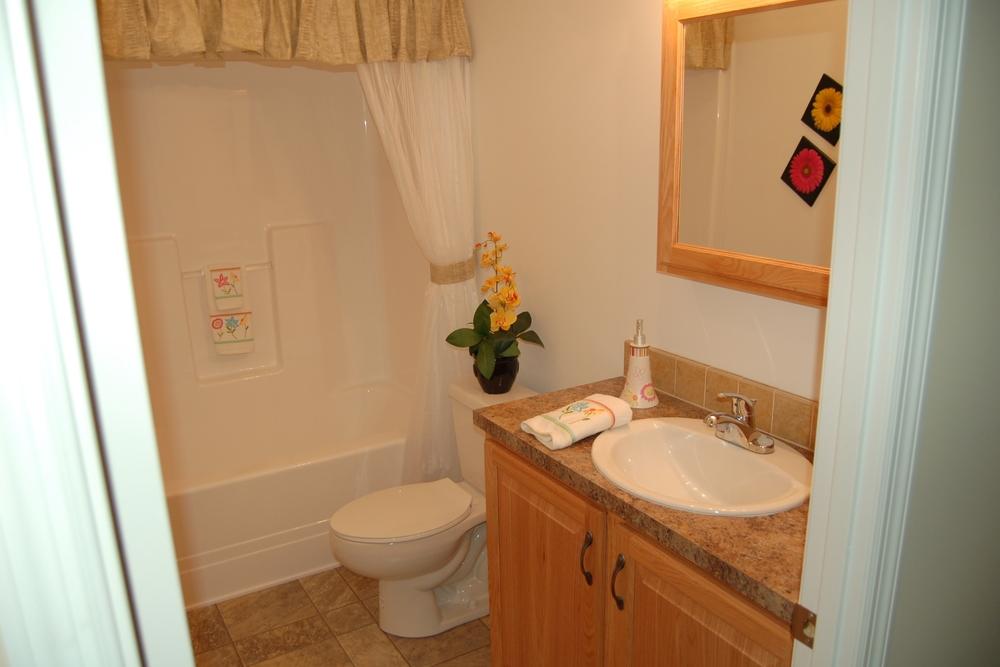 Standard Main Bath Vanity (Natural Oak Cabinetry)