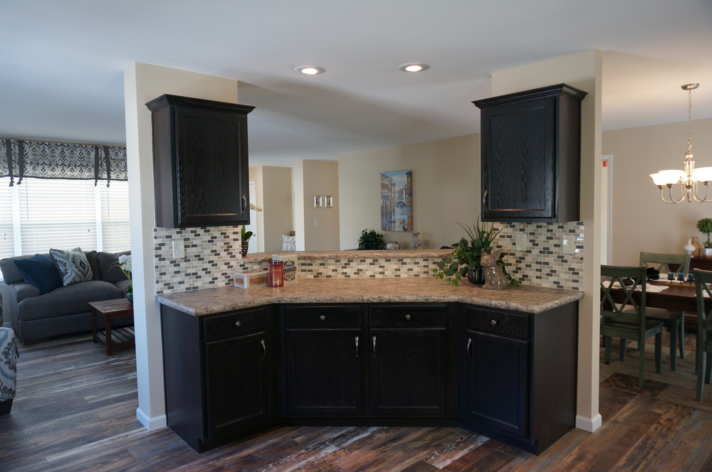 Mayfield Kitchen w/Espresso-Stained Oak Cabinetry